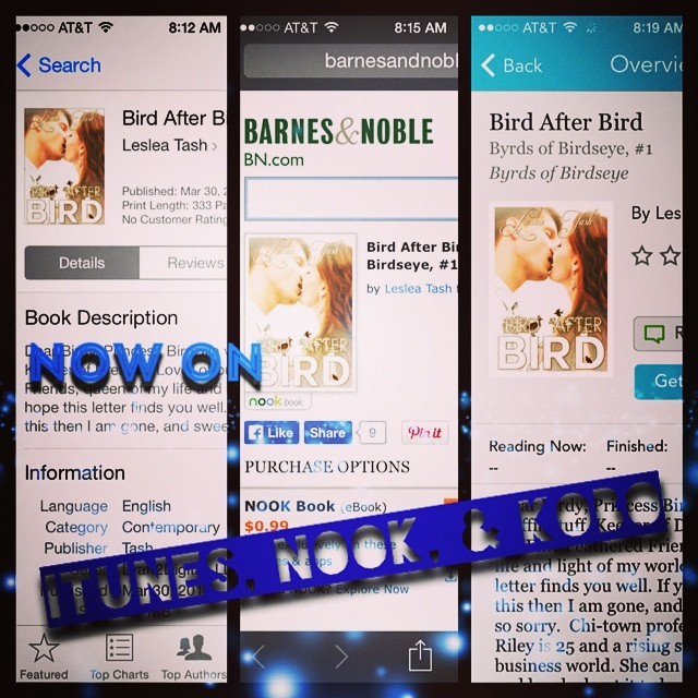 Bird After Bird now on iBooks, Barnes & Noble, and Kobo stores