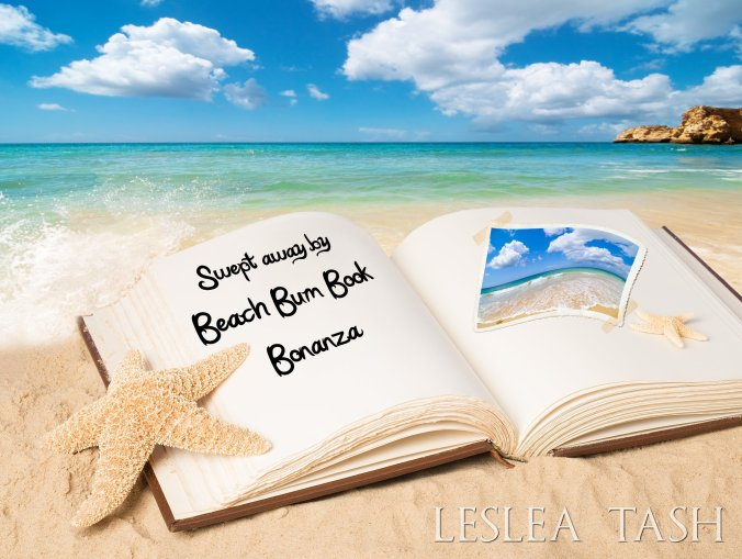 Open book with empty page on summer beach for copy space