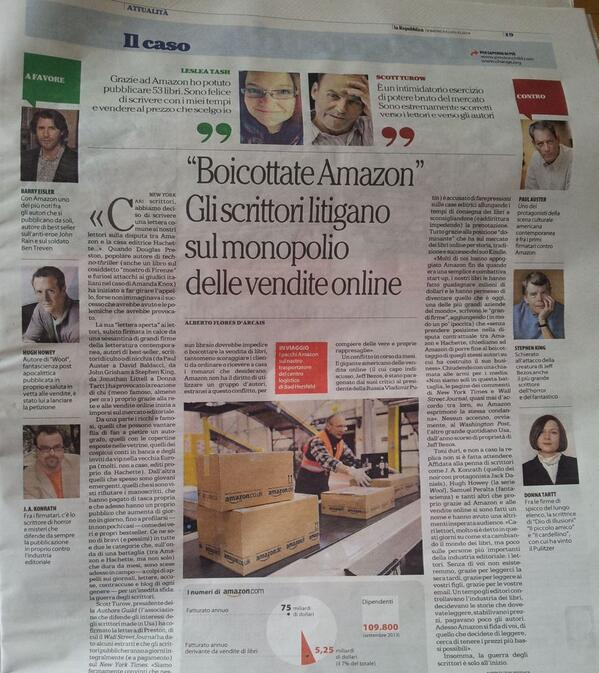 quoted in an Italian newspaper