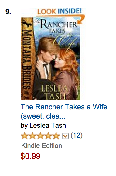 The Rancher Takes a Wife, Montana Brides #1, a top ten hit.