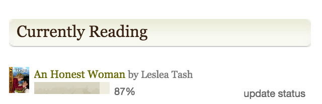 I'm 87% of the way toward my word count goal. That doesn't mean I won't go longer. I usually do! Click to friend/follow me on Goodreads.